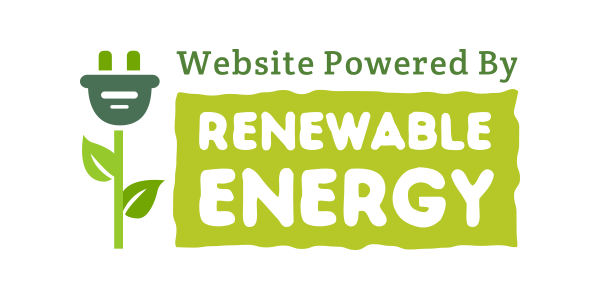 Website powered by renewal energy