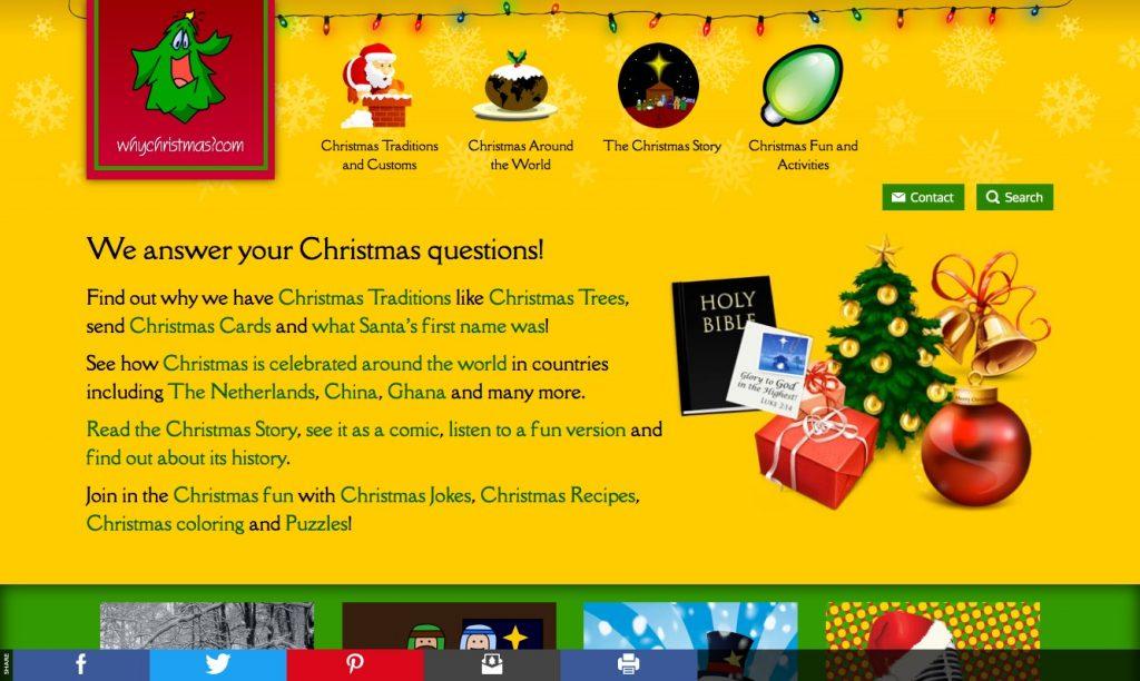 Screenshot of www.whychristmas.com